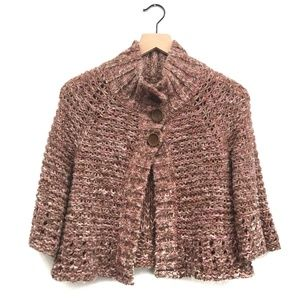 Free People Brown & Pink Chunky Sweater - Size XS